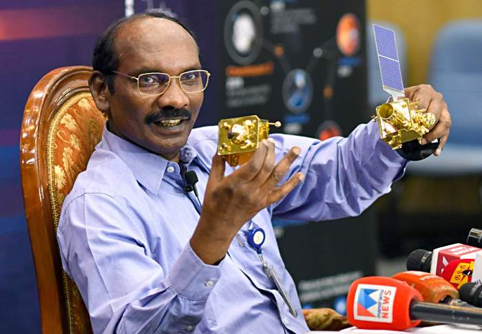 Chairman, indian space research organisation (isro), dr. k. sivan addressing a press conference