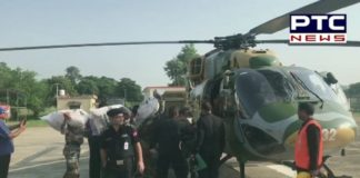 Three Cheetah Helicopters takes 36000 parathas, 18000 litres water to 18 villages of Shahkot, Jalandhar