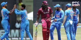 India vs West Indies 1st ODI Highlights: Chris Gayle failed, Match washed out due to rain