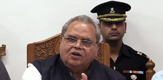 Jammu and kashmir governor satya pal malik addresses a press conference