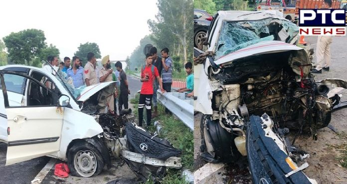 Haryana: 2 died, one critically injured in a road accident in Karnal