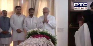 Sushma Swaraj Death: PM Narendra Modi pays last respect to former External Affairs Minister