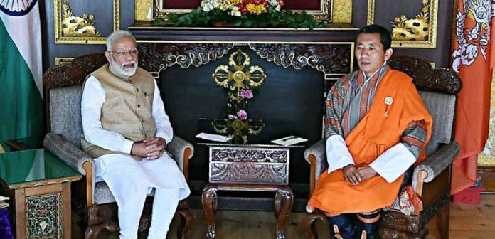 Prime Minister Narendra Modi meets Prime Minister of Bhutan Lotay Tshering