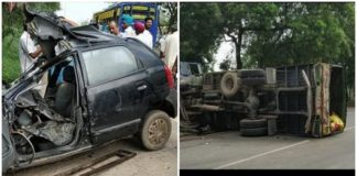 Bhikhi Mansa Road On Accident , Father sons Including three died
