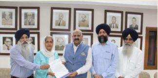 SGPC Punjab Governor V.P. Singh Badnore international nagar Kirtan Invitation to join