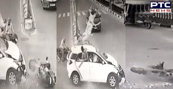 Mohali 7 Phase Light Point car Activate Collision ,Mother-daughter Death
