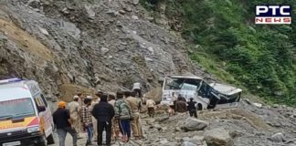 Uttarakhand: 7 passengers died as a boulder fell on their bus at Lambagad slide zone on Badrinath Highway