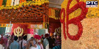 First Parkash Purab of Sri Guru Granth Sahib Ji: Flowers bloom at Sri Harmandir Sahib