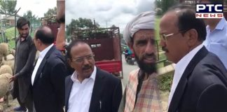 NSA Ajit Doval in Jammu and Kashmir, interacts with shopkeepers, ahead of Bakra Eid 2019