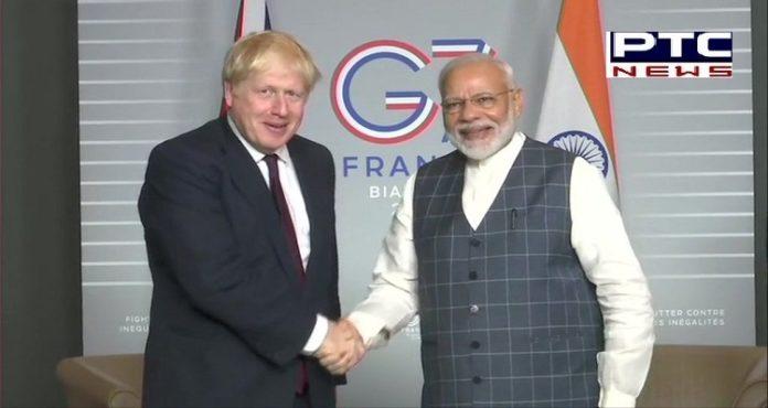 PM Modi And Boris Johnson