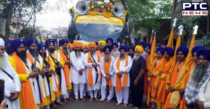550th Parkash Purab: International Nagar Kirtan departs from Kolkata to Kharagpur, West Bengal