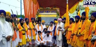 International Nagar Kirtan departs from Lucknow to Gurudwara Sahib Ranjit Nagar in Kanpur, Uttar Pradesh