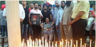 Stray cattle Sad 30 organizations Members Government against Candle march In patiala