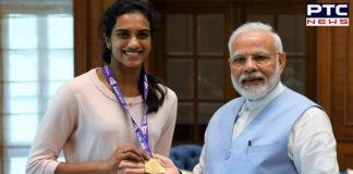 Indian Shuttler PV Sindhu meets PM Narendra Modi after scripting history in BWF World Championships 2019