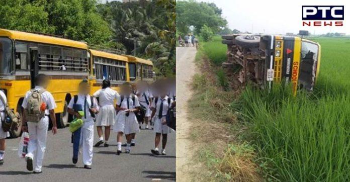 Rupnagar Jatts-grewal road Taking children to school Bus Accident