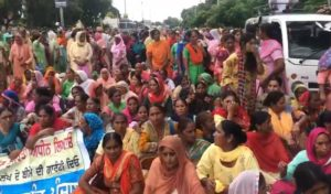 Midday Meal Workers Protest