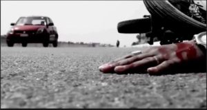 motorcycle And milk tanker Terrible collision , Two Deaths of Youth