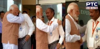 Chandrayaan 2: PM Narendra Modi hugs ISRO Chief K Sivan after he broke down