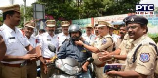 Hyderabad cops facilitating traffic violators with documents, helmets instead of challans