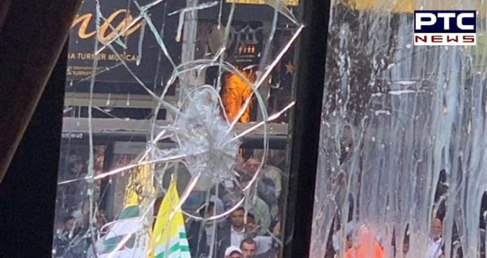 Indian High Commission in London vandalized after protests break out over Kashmir, two arrested