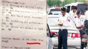New Traffic Rules: Man lefts Aviator after fines Rs 23000 while his scooter was Rs 15000