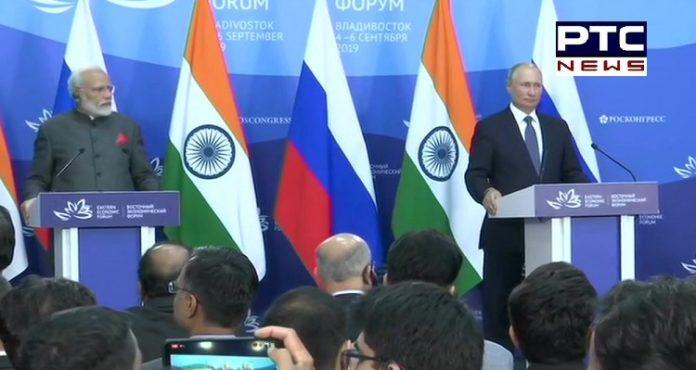 PM Narendra Modi and Russian President Vladimir Putin holds joint media statement in Vladivostok
