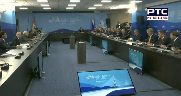 PM Narendra Modi, Russian President Vladimir Putin holds delegation level talks in Vladivostok