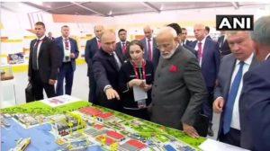 PM Narendra Modi visit to Russian President Vladimir Putin