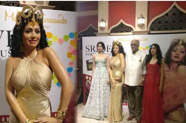 Late actor Sridevi wax statue was unveiled at Singapore Madame Tussauds