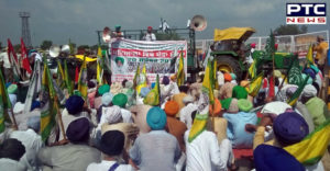 Protest on Bathinda-Chandigarh road demanding manjeet dhaner acquittal for life term imprisonment
