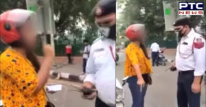 Delhi woman gets challan, threatens to commit suicide