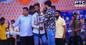 Punjabi singer Gurnam Bhullar live show During Fans with Dispute
