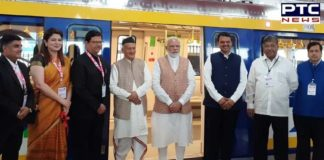 PM Narendra Modi inaugurates first coach for Mumbai Metro built under 'Make in India' programme