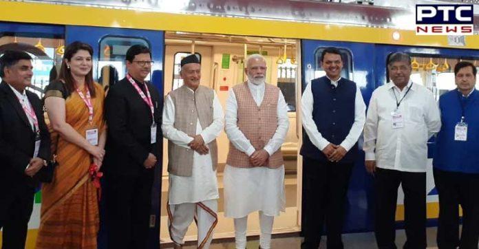 PM Narendra Modi inaugurates first coach for Mumbai Metro built under 'Make in India' programme