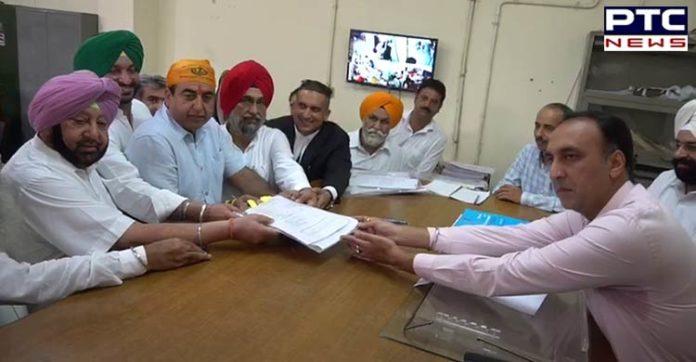 Punjab Bypolls: Congress candidate Capt Sandeep Singh Sandhu files nomination from Dakha