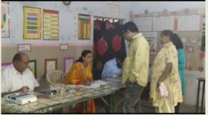By-elections 2019: Mukerian Congress Candidate Indu Bala Booth number - 117 Voting