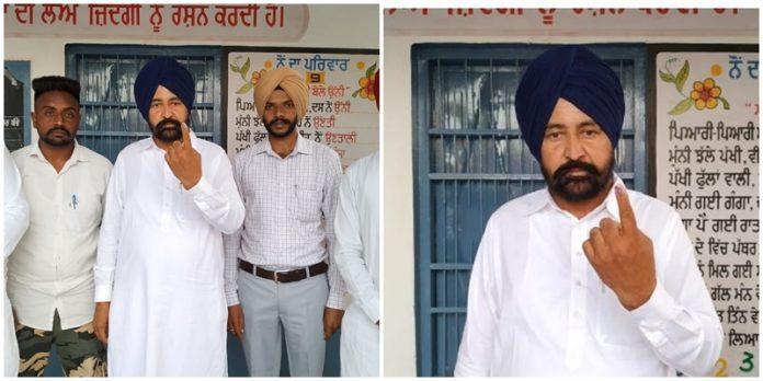 By-elections 2019: jalalabad SAD candidate Dr. Raj Singh Dibipura candidate cast vote