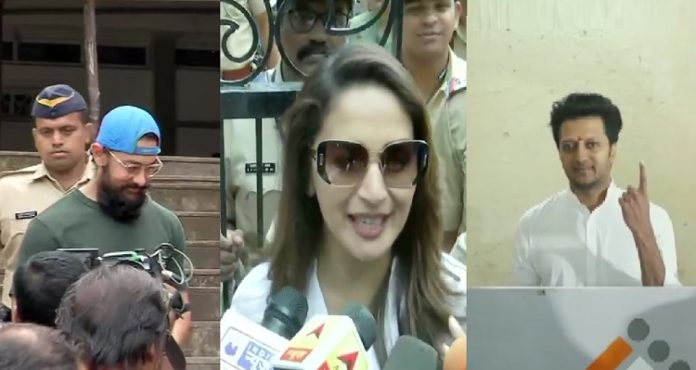 Maharashtra Assembly Elections 2019: Actors Aamir Khan, Madhuri Dixit and others cast their vote