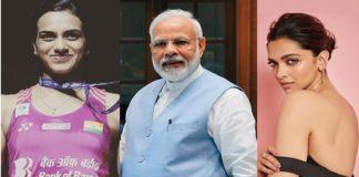 Narendra Modi ,PV Sindhu, Deepika Padukone ,Bharat Ki Laxmi