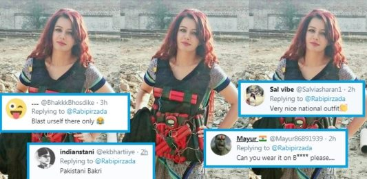 Dressed in suicide vest, Pakistani singer Rabi Pirzada threatens PM Modi; trolled