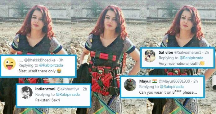 Dressed in suicide vest, Pakistani singer Rabi Pirzada threatens PM Modi; trolled