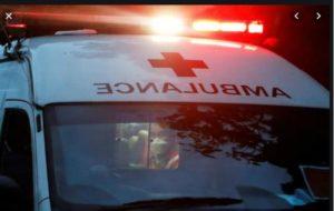 Balachaur - Chandigarh Main road patient leaves ambulance Accident , Two Injured