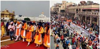 Guru Nanak Dev Ji 550th Parkash Purab Dedicated Sri Akal Takhat Sahib Started Nagar Kirtan