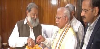 Anil Vij and CM