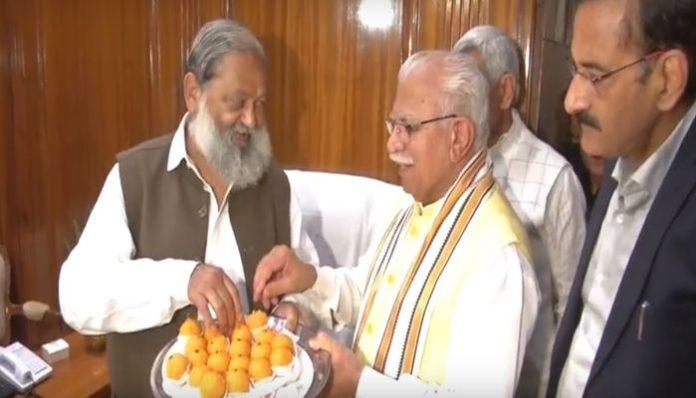 Anil Vij and CM