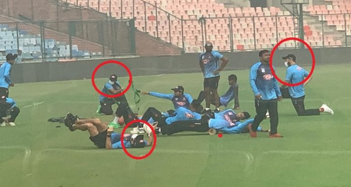 Delhi Pollution: Three Bangladeshi players wear masks to practice ahead of 1st T20