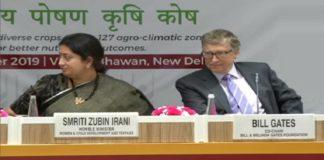 Delhi: Smriti Irani and Bill Gates launches 'Bharatiya POSHAN Krishi Kosh'