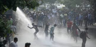 JNU protest: Delhi Police resorts to water cannon to disperse protesting students