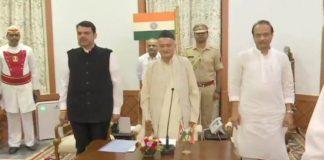 Maharashtra: Devendra Fadnavis takes oath as CM, NCP's Ajit Pawar as Deputy CM