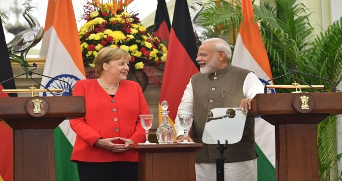 PM Modi, German chancellor Angela Merkel issue joint press statement in Delhi